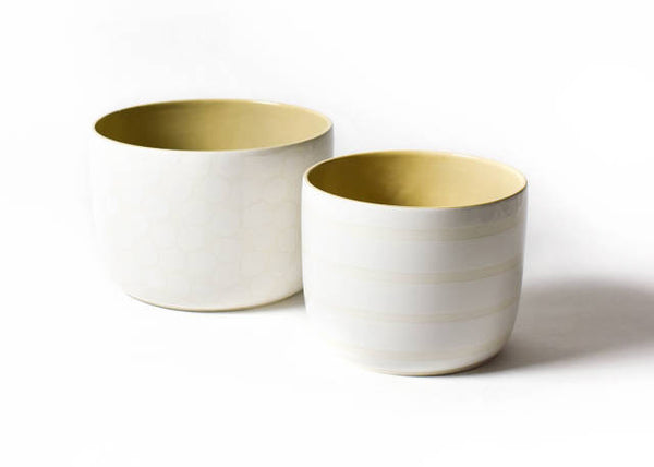Pebble Plank Mix Party Bowls - Set of 2