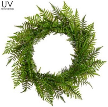 Mixed Fern Wreath - 30""
