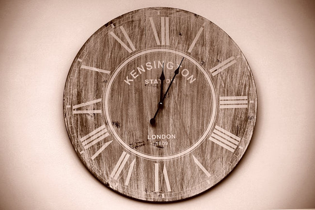 Kensington Brown Round Wall Analog Clock
