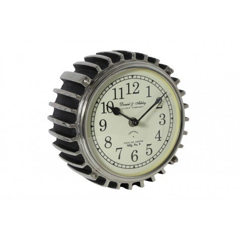 RIBBE CLOCK NICKEL & BLACK