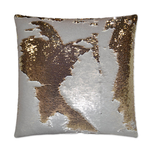 Hylee-Ivory Sequin Pillow