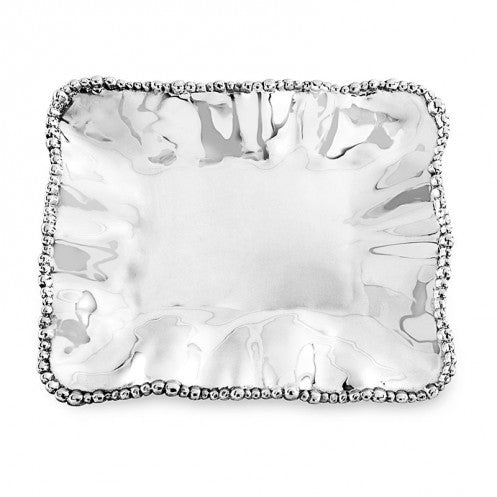 Organic Pearl Rectangular Tray, Medium