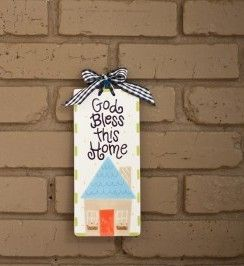 God Bless This Home Plaque by Coton Colors