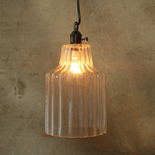 Stina Glass Pendant Light - Lrg - Clear