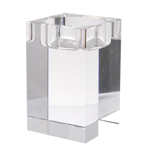 Square Crystal Candle Holders
