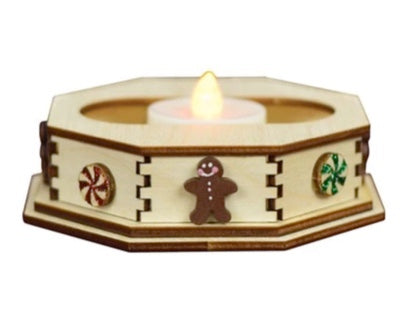 Mint Tealight Display by Old World Christmas