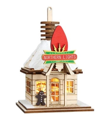 Northern Lights Electric Company Ginger Cottages by Old World Christmas