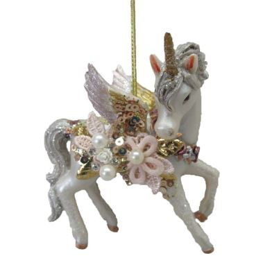Embellished Unicorn Ornament
