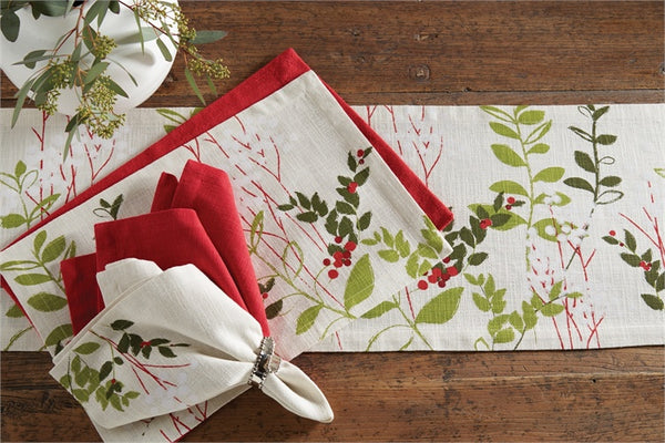 Winter Botanical Table Runner