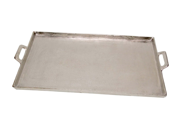 Raw Nickel Tray with Handles