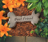Best Friends Dog Bone Garden Stone