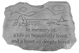 In Memory of a Life so Beautiful Garden Stone