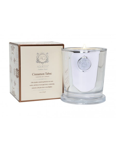 CINNAMON TABAC~LARGE CANDLE IN GIFT BOX by AQUIESSE