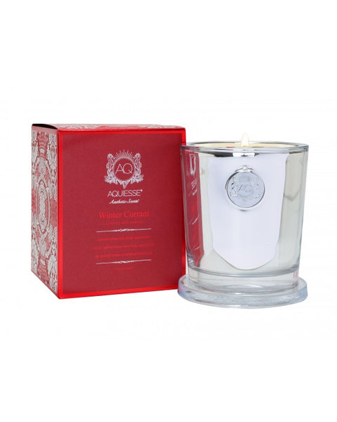 WINTER CURRANT~LARGE CANDLE IN GIFT BOX by AQUIESSE