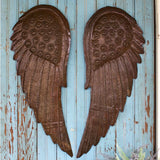 METAL HAND HAMMERED ANGEL WINGS- set of 2