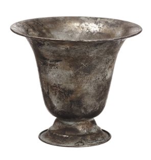 Antique Gray Metal Urn