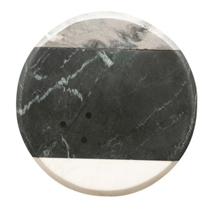 Mixed Marble Round Serving Tray