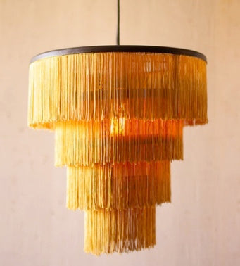 Gold Fringe Pendant Light