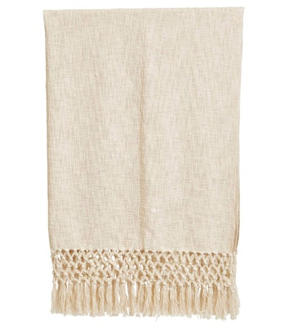 Cream Cotton Slub Throw