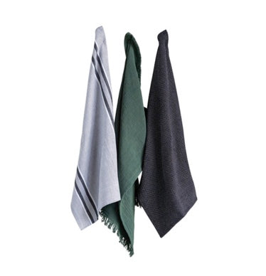 Green & Gray Dishtowel Set