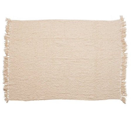 Ivory Boucle Throw