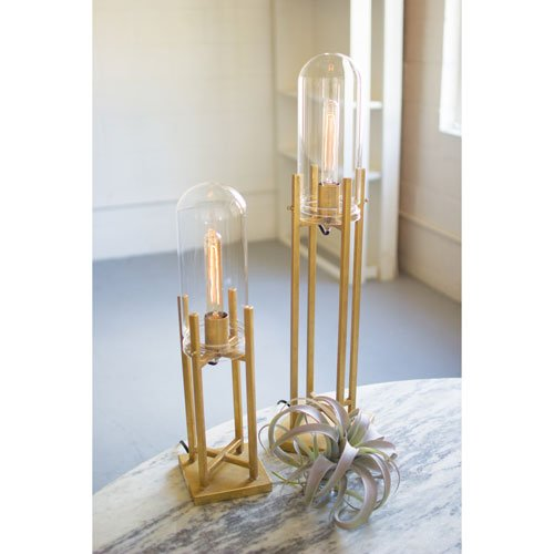 KALALOU TABLE LAMP WITH GLASS DOME