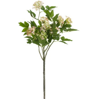 "Viburnum Spray - 34"" Pink/Cream"