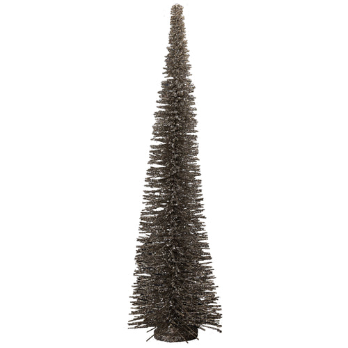 Wool Antique Silver Glittered Tree - LG