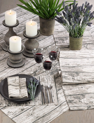 Printed Wood Table Runner