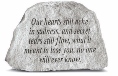 Our Hearts Still Ache Garden Stone