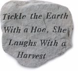 Tickle the Earth Garden Stone