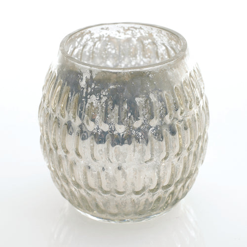 Gracie Silver Mercury Votive Holder