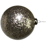 Champagne Sparkle Glass Ball Ornament