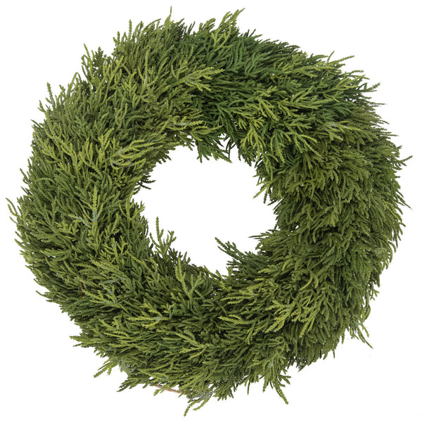 Cypress Wreath - 14""