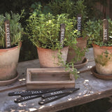Wooden Herb Plant Stakes 9 pack