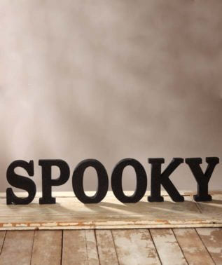 Spooky Glittered Letters