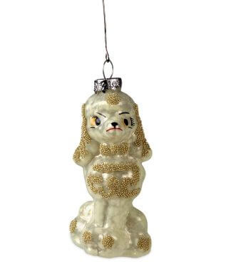 French Poodle Ornament