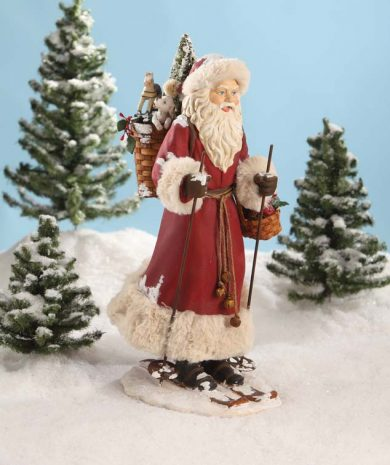 Father Christmas on Skis