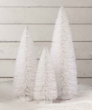 Winter White Flocked Trees (Set of 3)