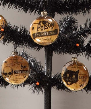 Halloween Poison Ornaments