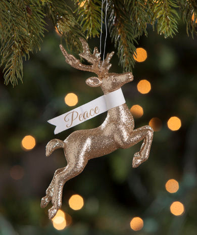 Glitter Stag Ornament
