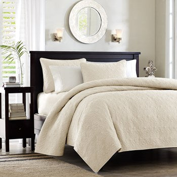 Quebec Ivory Coverlet Mini Set by Madison Park