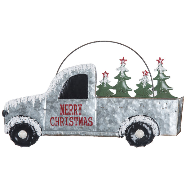 Tin Christmas Tree Delivery Truck Sign