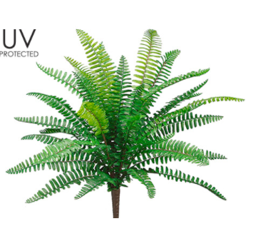 "19"" UV Boston Fern Bush- Green"