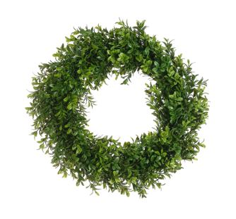 "Boxwood Wreath - 17"" Two Tone Green"