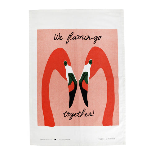Flamingo Tea Towel