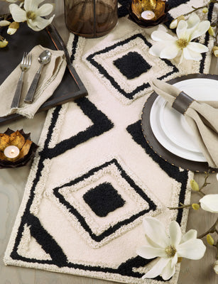 Diamond Rug Table Runner