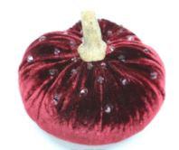 Hot Skwash Swarovski Crystal Velvet Pumpkin - Red