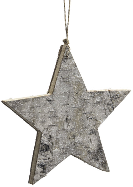 Birch Star Ornament