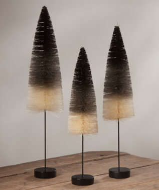 Halloween Ombre Brush Tree Trio